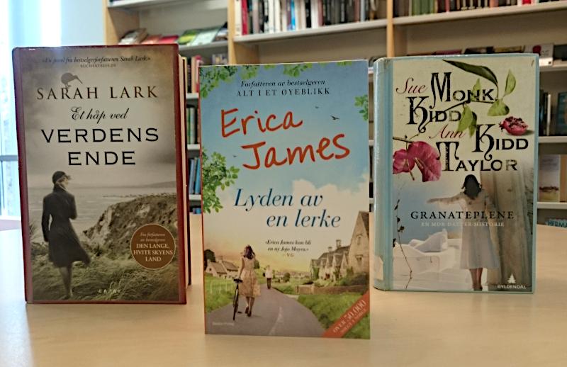 Bilde av bøker med damer med ryggen til. Foto: Av en annen verden © 2019